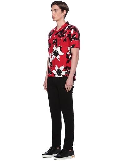 Edwin Çiçekli Kısa Kollu Gömlek Renkli